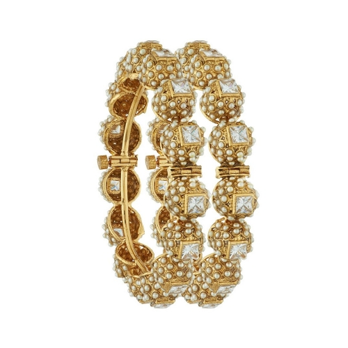 Satyam Jewellery Nx Traditional Pearl Wedding Bangle Artificial Jewellery Available At