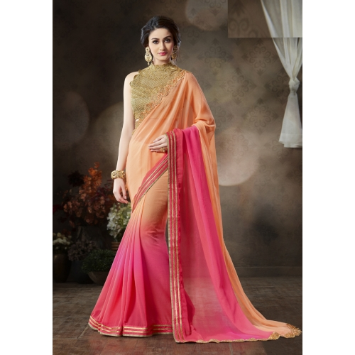 Shoponbit New Party Wear Embroidered Designer Saree available at Craftsvilla for Rs.2999