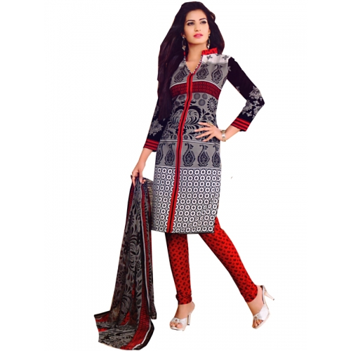 New Launch Printed Salwar Kmaeez Crepe Dress Material