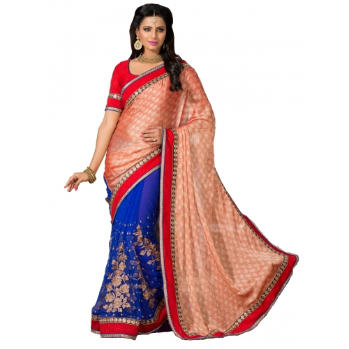 Beautiful Work With Heavy Embroidery Sarees