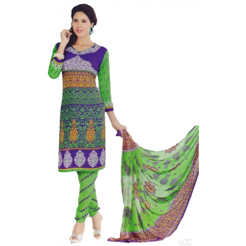 Amazing Printed Crepe Salwar Suit Dress Material