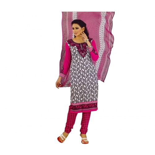 Beautiful Salwar Kameez With Crepe Dress Material