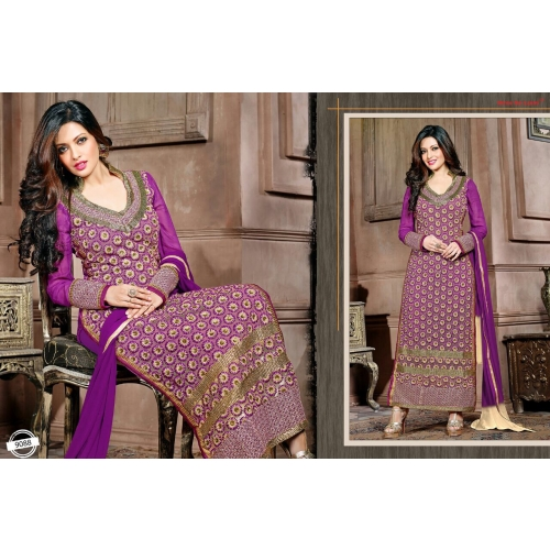 Beautiful Partywear Salwar Kameez With Embroidery Work