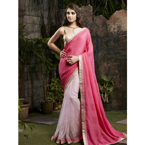 Beautiful Chiffon Sarees With Embroidery