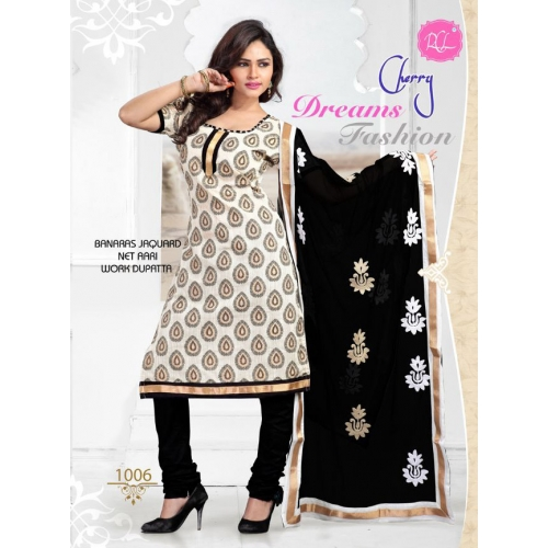 Beautiful Cotton Salwar Kameez With Embroidery Work