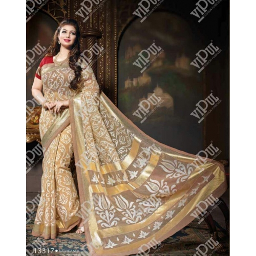 Beautiful Printed Kashida Silk Sarees