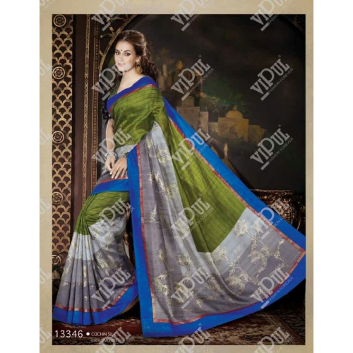 Beautiful Printed Cochin Silk Sarees