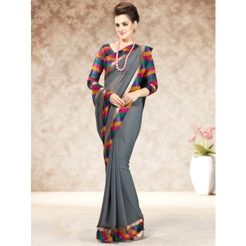 Beautiful Colorful Chiffon Saress