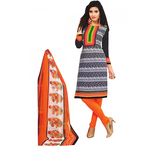 Beautiful Printed Salwar Kmaeez Crepe Dress Material