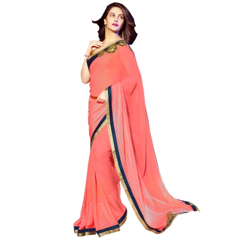 Beautiful Embroidery Heavy Work Party Wear Saree