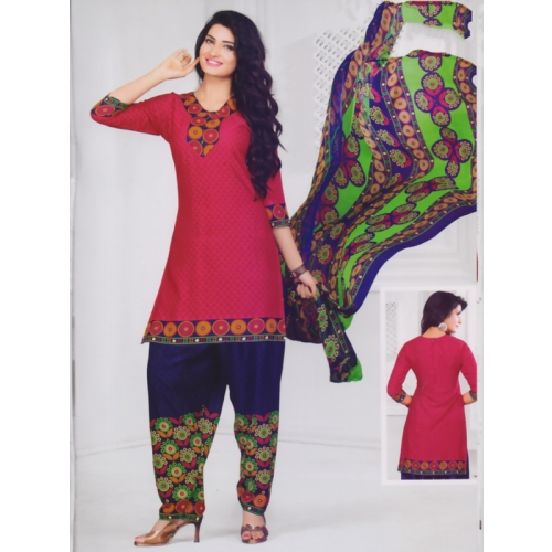 Beautiful Crepe Printed Salwar Kameez Dress Material