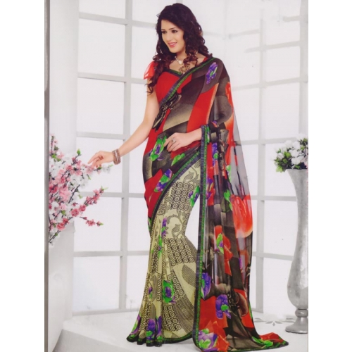 Beautiful Chiffon Printed Sarees
