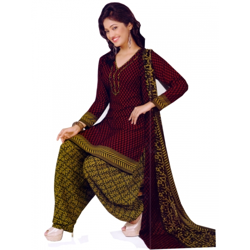 Beautiful Salwar Kameez Crepe Dress Material