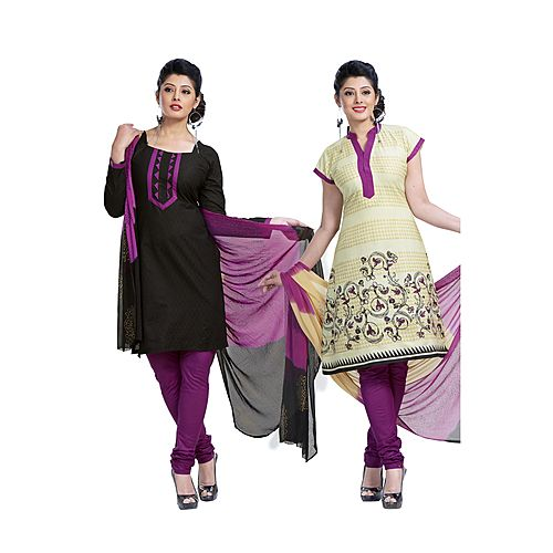 Springer 2 In 1 Beautiful Heavy Cotton Salwar Suit Material S D S No 3010