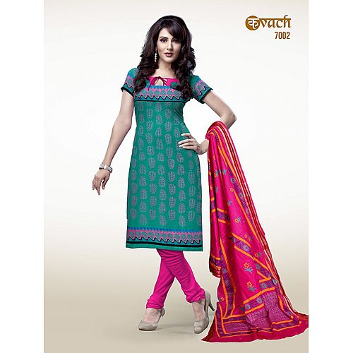 Kavach Beautiful Heavy Cotton Salwar Suit Material S