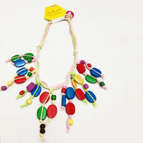 Colorful Beads And Thread Necklace Jewellery Joker