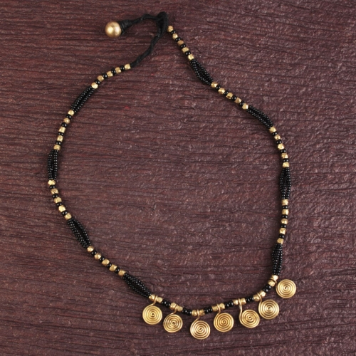 Multi- Roll Bead Necklace