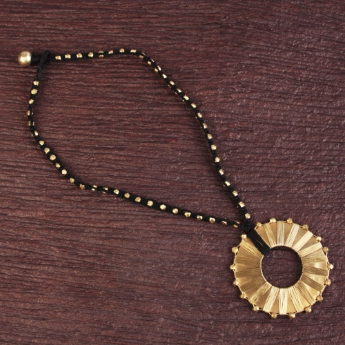 Hollow Round Pendant Necklace