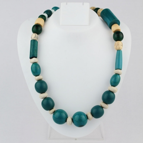 Green, White, Cream Necklace