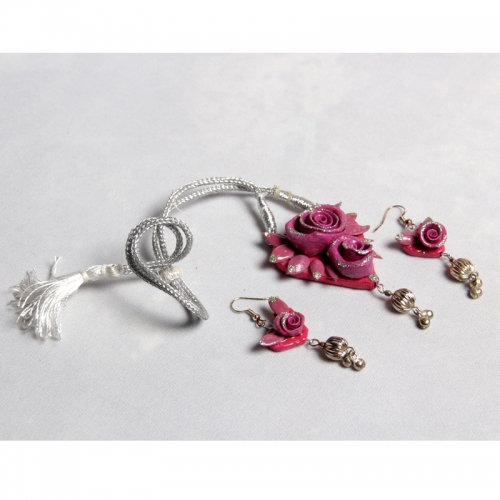 Jhumar Pink Necklace Set
