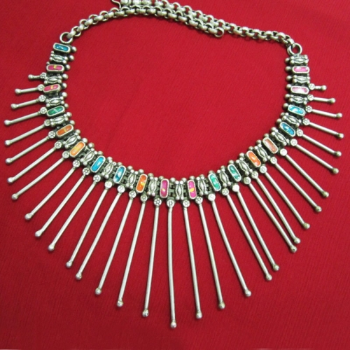 Colourful Tribal Necklace