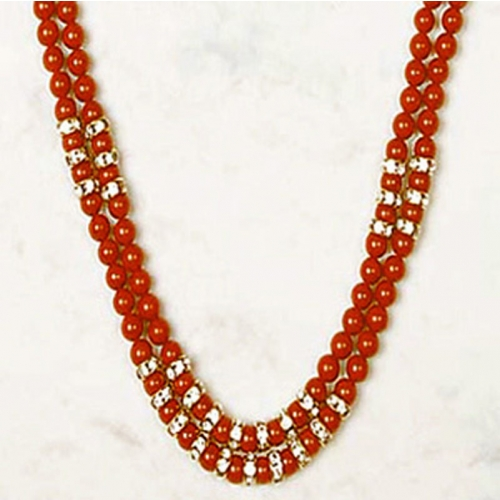 Double Coral Necklace