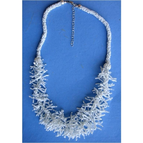 White Beaded Necklace - Agaape