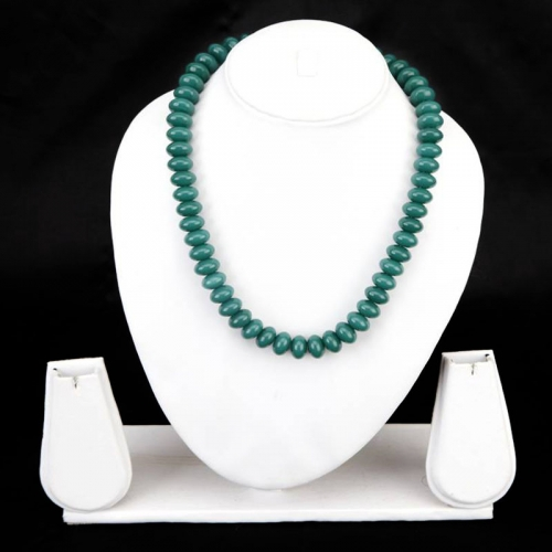 Light  Green Peda Beads Necklace