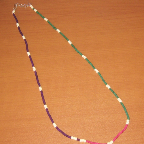 Purple-green Charms Necklace