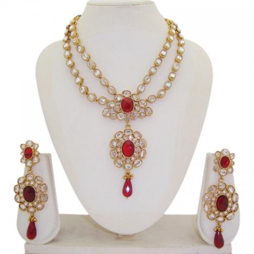Red Drop Necklace Sets