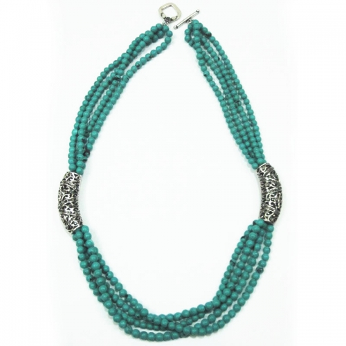Turquoise Off Center Necklace