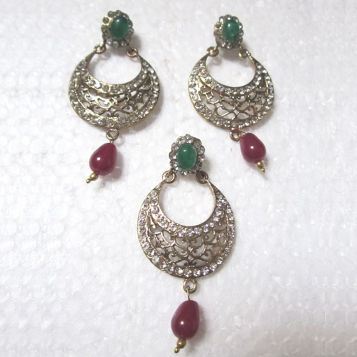 Red-green Drop Victorian Set - Hari Collections
