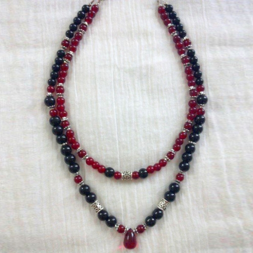 Sold!! Red Black  Necklace