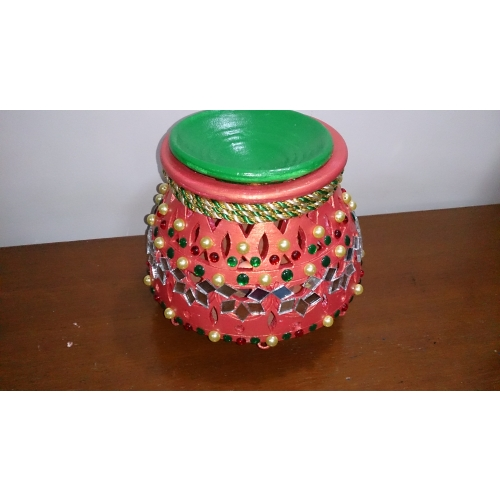 Home Decor Ideas For Navratri: Matka Earthen Pot,navratri Decoration