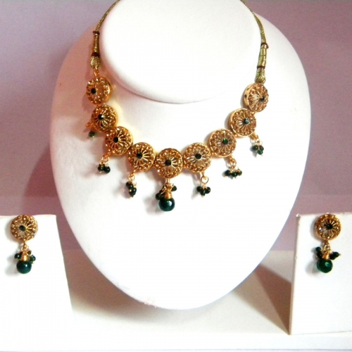 Green Drop Necklace Set