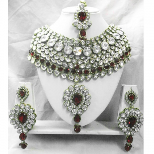 3 Piece Kundan Bridal Necklace Set