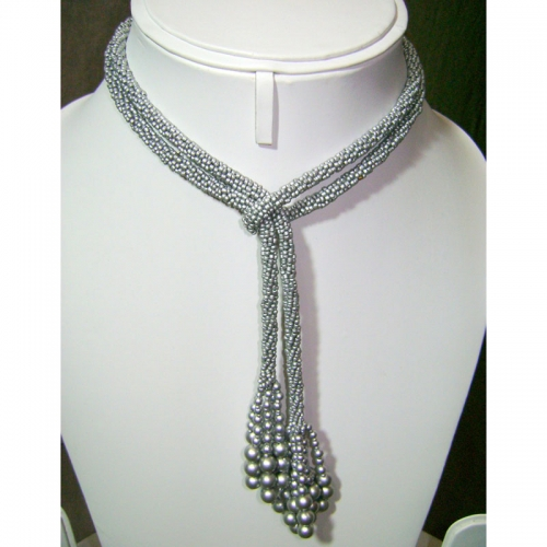 Silver-rope Necklace