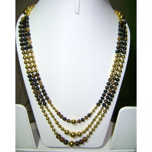 Wood-gold Necklace