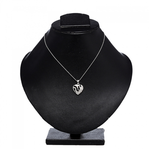 Heart Shaped Pendant Necklace Set - Peacock Collection
