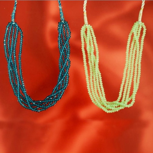 A2-evergreen Classy Crystal Colors Bound In Pure Resham - Primrose Accessories