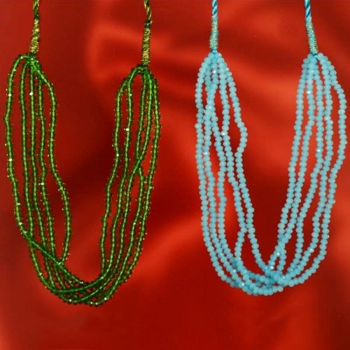 A2-evergreen Classy Colours In Crystal Bound In Pure Resham  - Primrose Accessories