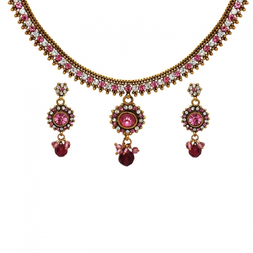 Pink & White Necklace Set