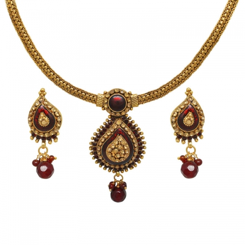 Traditional Necklace Set - Sharnam Art