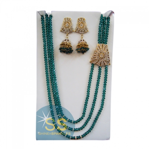 Treeshita Necklace Set - Aquamarine - Shine N Sparkles