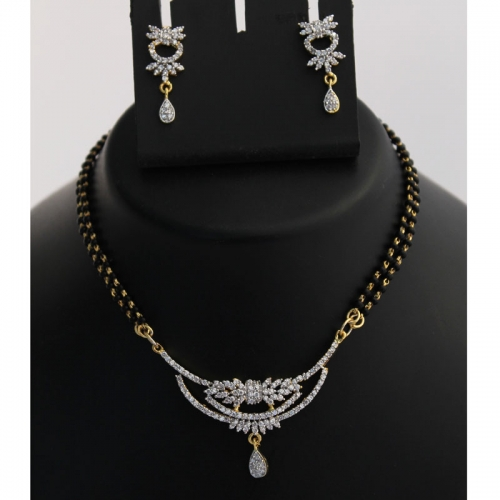 Gold Plated Mangalsutra Necklace Set