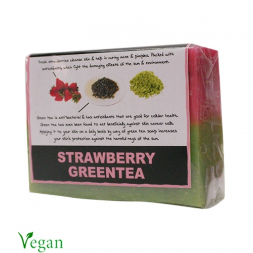 Strawberry Green Tea Soap - Soulflower