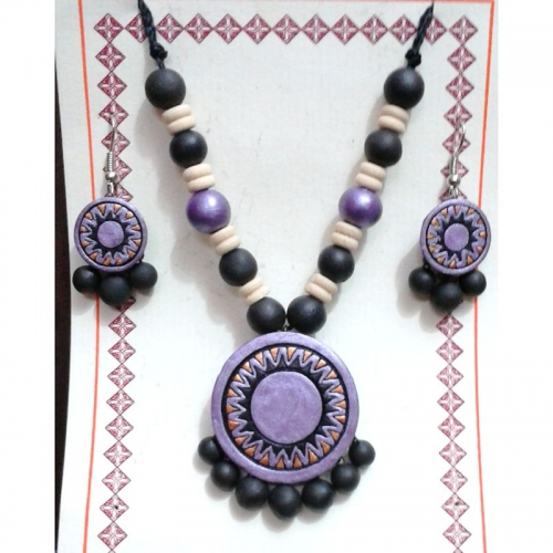 Ethic Lavender Earring Necklace Set