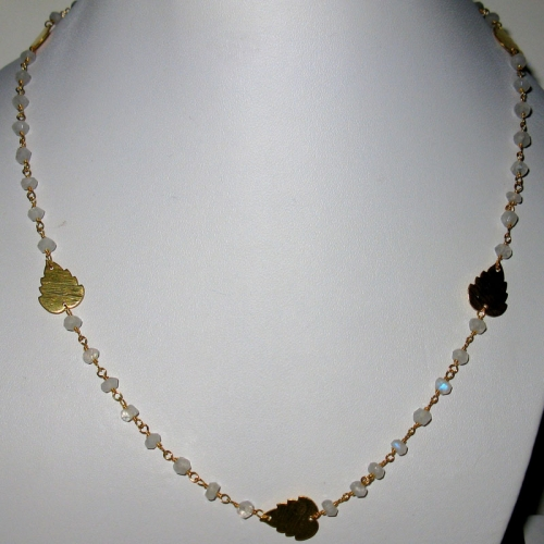 Leafy Moonstone Necklace