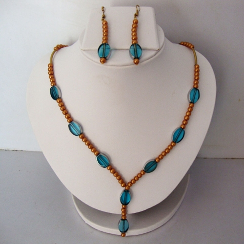 Brown Pearls Necklace Set