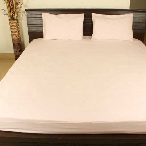 Organic Double Bedsheet With Two Pillow Covers